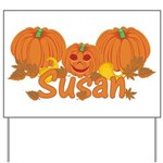 Halloween Pumpkin Susan Yard Sign