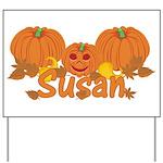 Halloween Pumpkin Susan Yard Sign