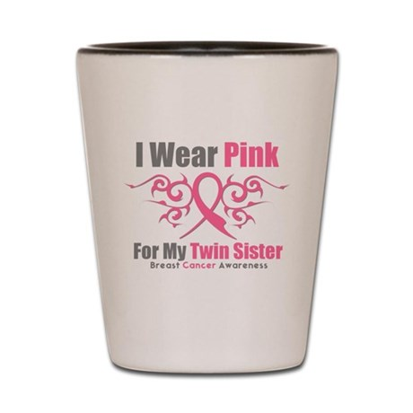 Pink Ribbon Tribal - Twin Sister Shot Glass