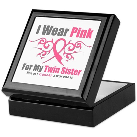 Pink Ribbon Tribal - Twin Sister Keepsake Box