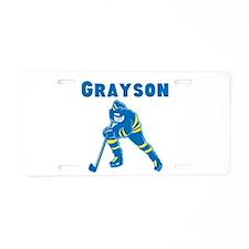 Personalized Hockey Aluminum License Plate