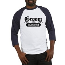 Groom (add wedding date) Baseball Jersey