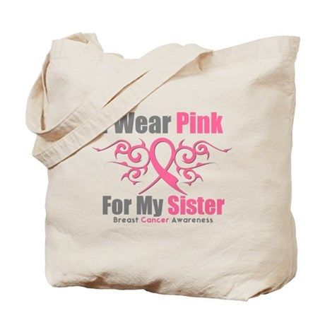 Pink Ribbon Tribal - Sister Tote Bag