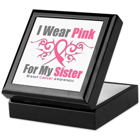 Pink Ribbon Tribal - Sister Keepsake Box