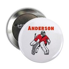 """Personalized Hockey 2.25"""" Button"""