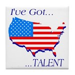 I've Got Talent Tile Coaster