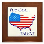 I've Got Talent Framed Tile