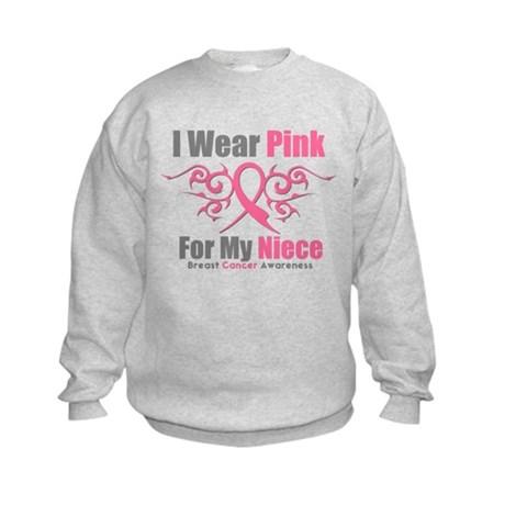 Pink Ribbon Tribal - Niece Kids Sweatshirt