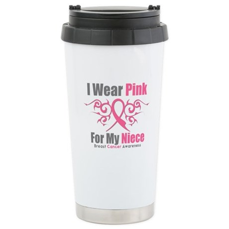 Pink Ribbon Tribal - Niece Ceramic Travel Mug