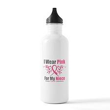 Pink Ribbon Tribal - Niece Water Bottle