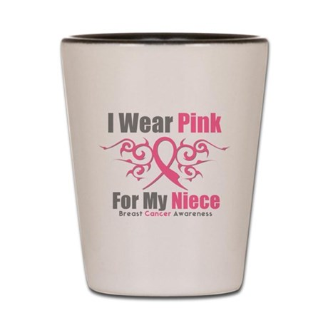 Pink Ribbon Tribal - Niece Shot Glass