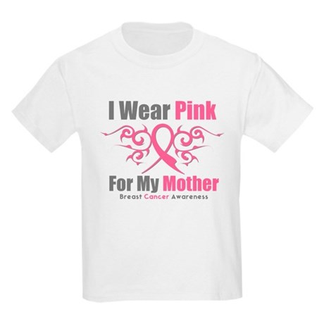 Pink Ribbon Tribal - Mother Kids Light T-Shirt