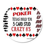 Cards Design II.jpg Round Car Magnet