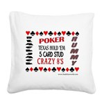 Cards Design II.jpg Square Canvas Pillow