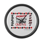 Cards Design II.jpg Large Wall Clock