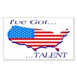 I've Got Talent Rectangle Sticker