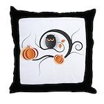 Whimsical Halloween Throw Pillow