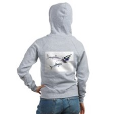 Two White Sharks ambush Tuna Zip Hoodie