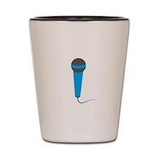 Blue Microphone Shot Glass