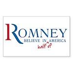 Romney: Believe in Half of America Sticker (Rectan