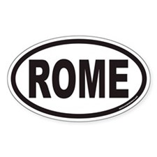 ROME Euro Oval Decal