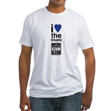 I Heart the Blues/KZUM2 Fitted T-Shirt