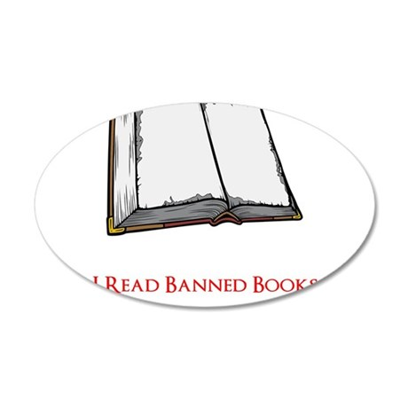 Banned Books 35x21 Oval Wall Decal