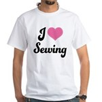 I Love Sewing White T-Shirt