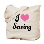 I Love Sewing Tote Bag