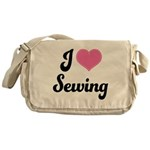 I Love Sewing Messenger Bag