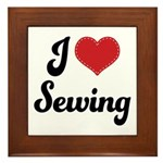 I Love Sewing Framed Tile