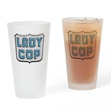Lady Cop Drinking Glass
