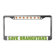 Save Orangutans License Plate Frame