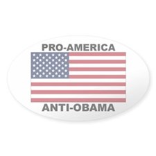 PRO America ANTI Obama Decal