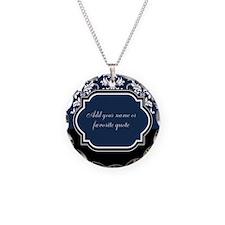 Customizable Damask Necklace