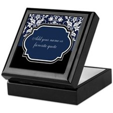 Customizable Damask Keepsake Box