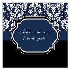 Customizable Damask Invitations