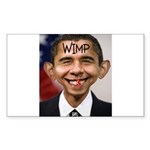 OBAMA WIMP Sticker (Rectangle 50 pk)