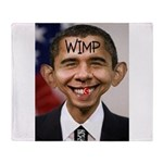 OBAMA WIMP Throw Blanket