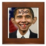OBAMA WIMP Framed Tile