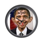 OBAMA WIMP Wall Clock
