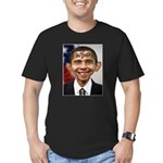 OBAMA WIMP Men's Fitted T-Shirt (dark)