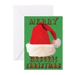 Merry Masonic Christmas Greeting Cards (Pk of 10)