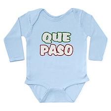 Que Paso Long Sleeve Infant Bodysuit