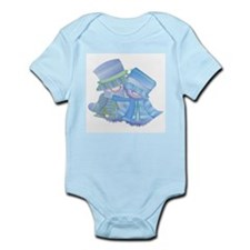 Snowman Couple (blue) Infant Creeper