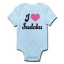 I Love Sudoku Infant Bodysuit