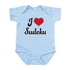 I Love Sudoku Infant Bodysuit
