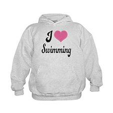 I Love Swimming Hoodie
