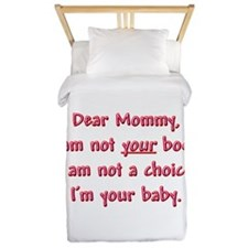 Dear Mommy Twin Duvet