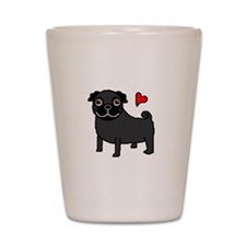 PugBlack.bmp Shot Glass